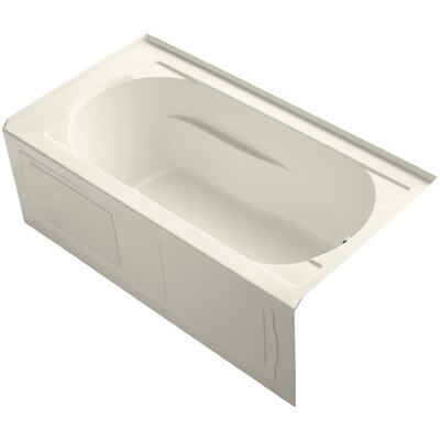 Devonshire Alcove BubbleMassage� Air Bath with Integral Apron, Tile Flange, Right-Hand Drain and Heater Finish: Biscuit