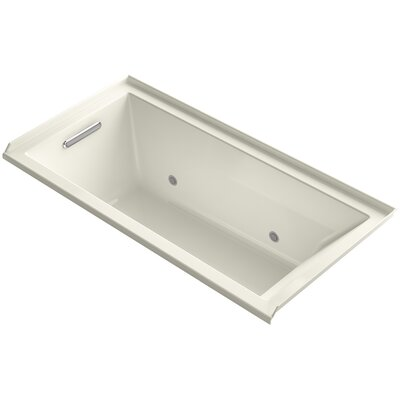 Underscore Alcove Vibracoustic 60 x 30 Soaking Bathtub Finish: Biscuit