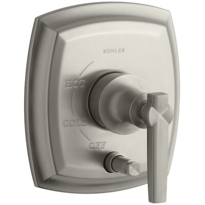 Margaux Rite-Temp Pressure-Balancing Valve Trim Finish: Vibrant Brushed Nickel K-T98759-4-BN