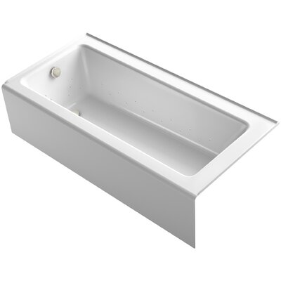 Bellwether 66 x 32 Alcove BubbleMassage Air Bathtub with Left-Hand Drain and Heater Finish: White