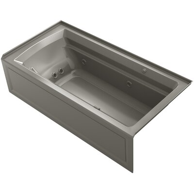 Archer 72 x 36 Air / Whirlpool Bathtub Finish: Cashmere, Drain Location: Right