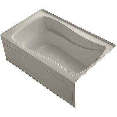 Mariposa Alcove Vibracoustic 60 x 36 Soaking Bathtub Finish: Sandbar, Drain Location: Right