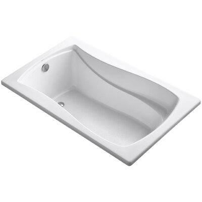 Mariposa Vibracoustic 60 x 36 Soaking Bathtub Finish: White