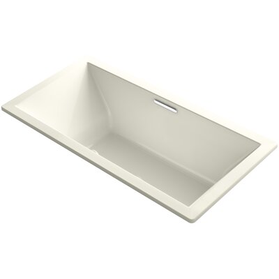 Underscore 72 x 36 Soaking Bathtub Finish: Biscuit