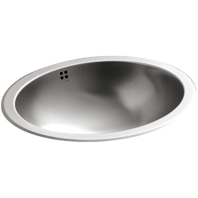 Bachata Oval Undermount Bathroom Sink with Overflow Finish: Luster