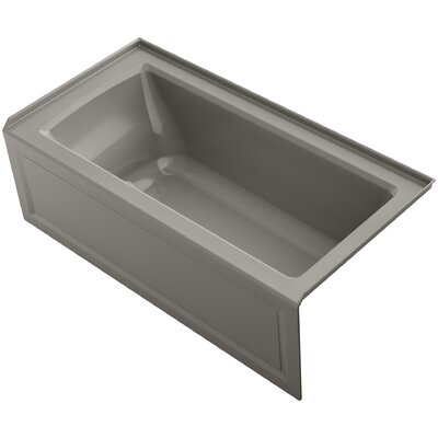 Archer 60 x 30 Air Bathtub Finish: Cashmere, Drain Location: Right