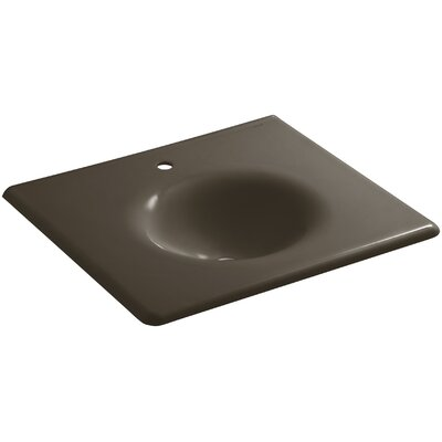 Iron Impressions 26 Single Bathroom Vanity Top Finish: Suede, Faucet Hole Style: Single