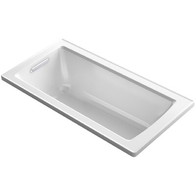 Archer Drop-In Bath with Bask� Heated Surface and Reversible Drain Finish: White