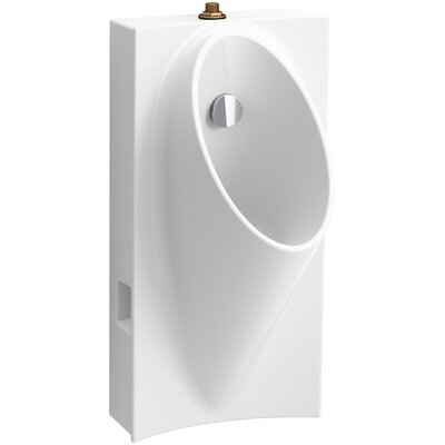 Steward Hybrid High-Efficiency Urinal with 3/4 Top Spud Finish: White