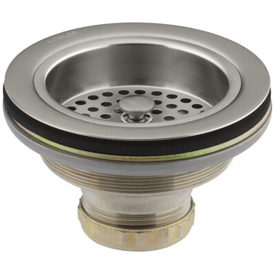 Duostrainer Sink Strainer, Less Tailpiece Finish: Vibrant Brushed Nickel