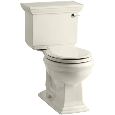 Memoirs Stately Stately Comfort Height Two-Piece Round-Front 1.28 GPF Toilet with Aquapiston Flush Technology and Right-Hand Trip Lever Finish: Almond