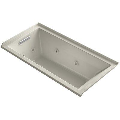 Underscore 60 x 30 Whirlpool Bathtub Finish: Sandbar, Drain Location: Left