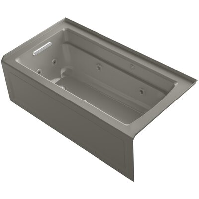 Archer 60 x 32 Air / Whirlpool Bathtub Finish: Cashmere, Drain Location: Left