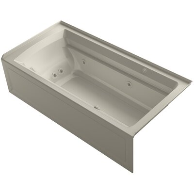 Archer 72 x 36 Air / Whirlpool Bathtub Finish: Sandbar, Drain Location: Right