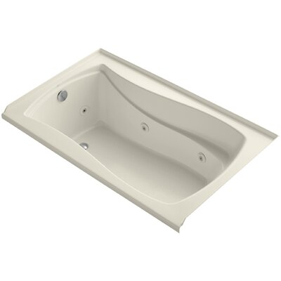 Mariposa 60 x 36 Whirpool Bathtub Finish: White, Drain Location: Left