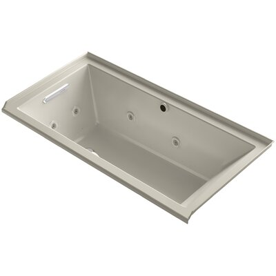 Underscore 60 x 30 Air / Whirlpool Bathtub Finish: Sandbar, Drain Location: Left