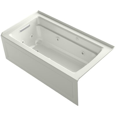 Archer 60 x 32 Air / Whirlpool Bathtub Finish: Dune, Drain Location: Left