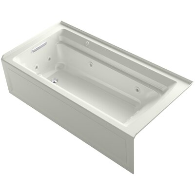 Archer 72 x 36 Air / Whirlpool Bathtub Finish: Dune, Drain Location: Left