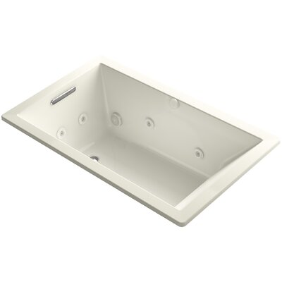 Underscore 60 x 36 Whirlpool Bathtub Finish: Biscuit