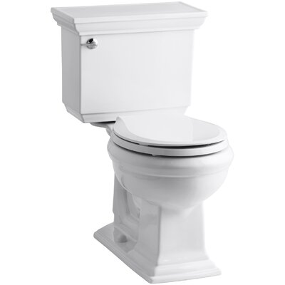 Memoirs Stately Comfort Height Two-Piece Round-Front 1.28 GPF Toilet with Aquapiston Flush Technology, Left-Hand Trip Lever and Insuliner Tank Liner Finish: White