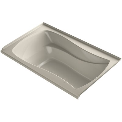 Mariposa Alcove Vibracoustic 60 x 36 Soaking Bathtub Finish: Sandbar, Drain Location: Right