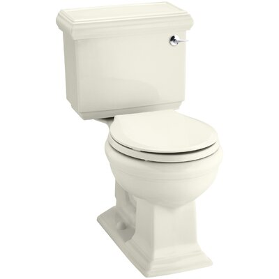 Memoirs Classic Comfort Height Two-Piece Round-Front 1.28 GPF Toilet with Aquapiston Flush Technology and Right-Hand Trip Lever Finish: Biscuit