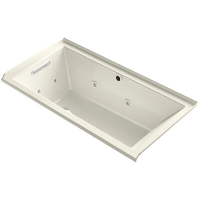 Underscore 60 x 30 Air / Whirlpool Bathtub Finish: Biscuit, Drain Location: Left