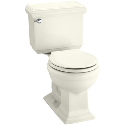 Memoirs Classic Comfort Height Two-Piece Round-Front 1.28 GPF Toilet with Aquapiston Flush Technology and Left-Hand Trip Lever Finish: Biscuit