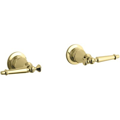 Antique Valve Trim with Lever Handles Finish: Vibrant Polished Brass