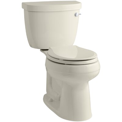 Cimarron Comfort Height Two-Piece Round-Front 1.28 GPF Toilet with Aquapiston Flush Technology and Right-Hand Trip Lever Finish: Almond