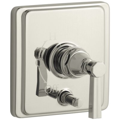 Pinstripe Rite-Temp Pressure-Balancing Shower Faucet with Diverter and Grooved Lever Handle Finish: Vibrant Polished Nickel