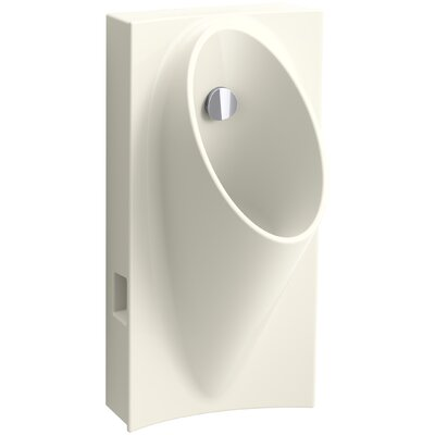 Steward Hybrid High-Efficiency Urinal with 1/2 Flexible Rear Supply Hose Finish: Biscuit