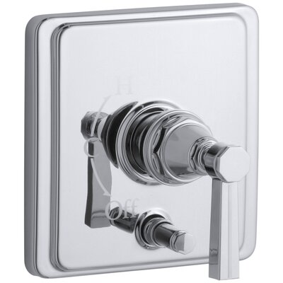 Pinstripe Rite-Temp Pressure-Balancing Shower Faucet with Diverter and Grooved Lever Handle Finish: Polished Chrome