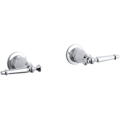 Antique Valve Trim with Lever Handles Finish: Polished Chrome