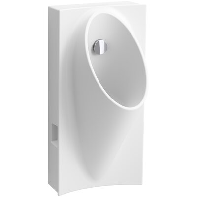 Steward Hybrid High-Efficiency Urinal with 1/2 Flexible Rear Supply Hose Finish: White