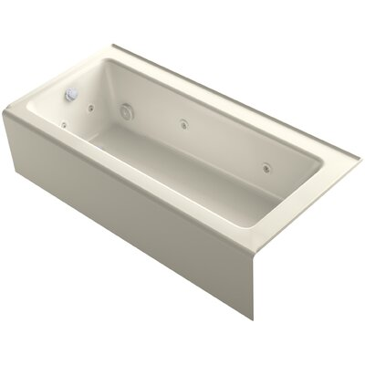 Bellwether 66 x 32 Alcove Whirlpool Finish: Almond