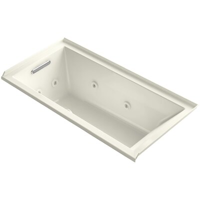 Underscore 60 x 30 Whirlpool Bathtub Finish: Biscuit, Drain Location: Left