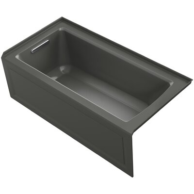 Archer 60 x 30 Soaking Bathtub Finish: Thunder Grey, Drain Location: Left