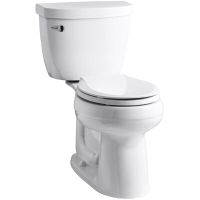 Cimarron Comfort Height Two-Piece Round-Front 1.28 GPF Toilet with Aquapiston Flush Technology Finish: White