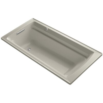 Archer 72 x 36 Drop-in Bubble massage Air Bathtub with Reversible Drain and Bask Heated Surface Finish: Sandbar