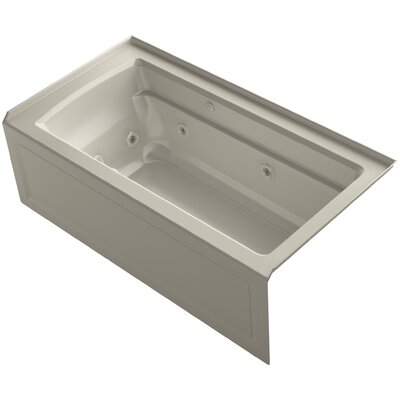 Archer 60 x 32 Air / Whirlpool Bathtub Finish: Sandbar, Drain Location: Right