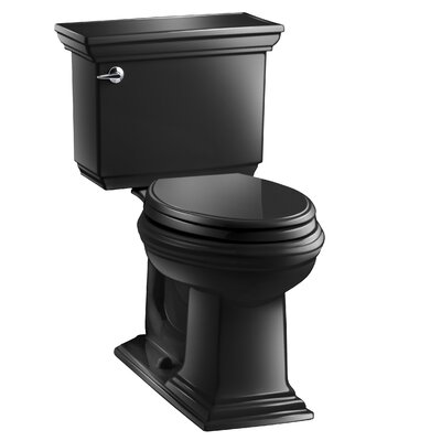 Memoirs Stately 1.28 GPF Elongated Two-Piece Toilet Finish: Black Black
