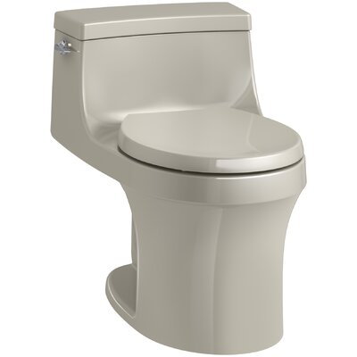 San Souci 1 Piece Round-Front 1.28 GPF Toilet with Aquapiston Flushing Technology Finish: Sandbar