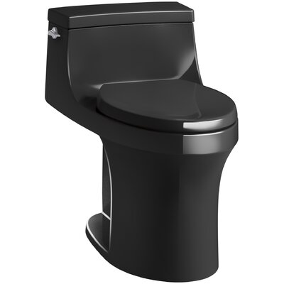 San Souci Comfort Height 1.28 GPF Elongated One-Piece Toilet Finish: Black Black
