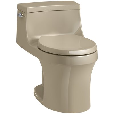 San Souci 1 Piece Round-Front 1.28 GPF Toilet with Aquapiston Flushing Technology Finish: Mexican Sand