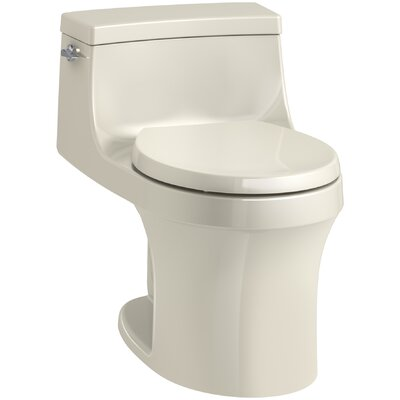 San Souci 1 Piece Round-Front 1.28 GPF Toilet with Aquapiston Flushing Technology Finish: Almond