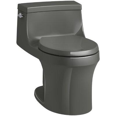 San Souci 1 Piece Round-Front 1.28 GPF Toilet with Aquapiston Flushing Technology Finish: Thunder Grey