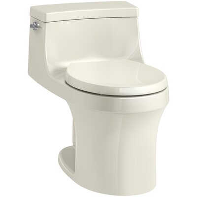 San Souci 1 Piece Round-Front 1.28 GPF Toilet with Aquapiston Flushing Technology Finish: Biscuit