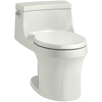 San Souci 1 Piece Round-Front 1.28 GPF Toilet with Aquapiston Flushing Technology Finish: Dune