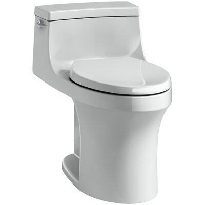 San Souci Comfort Height 1.28 GPF Elongated One-Piece Toilet Finish: Ice Grey
